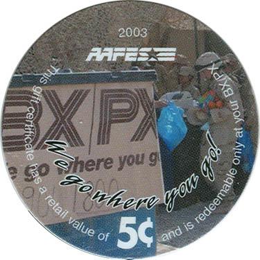 Series Three Gallery - AAFES pogs - numispedia